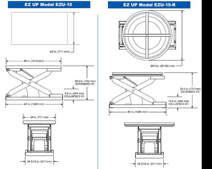 Pneumatic Lift Table Design kl pneumatic motorcycle lift table 1000 lb capacity Ez Up Drawings